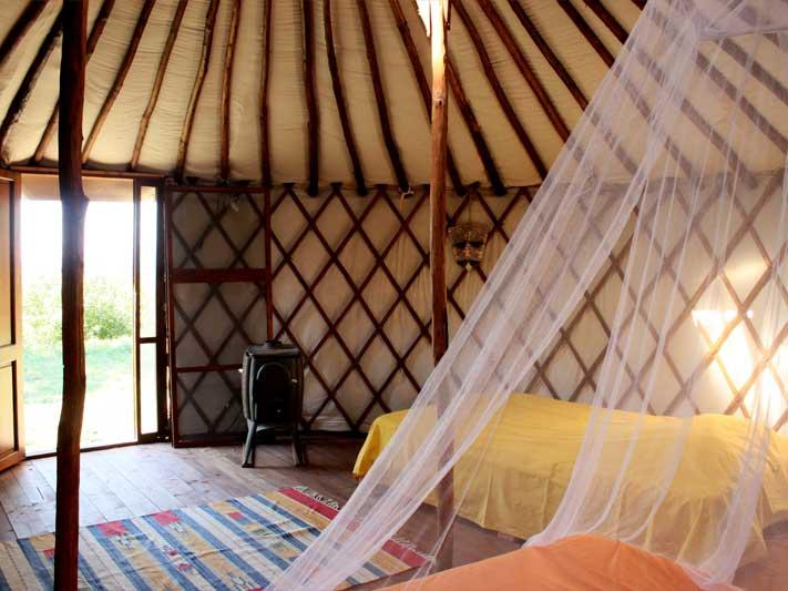 Offerta famiglia Yurta campeggio 2 notti rimantiche riscaldamento a legna compreso
